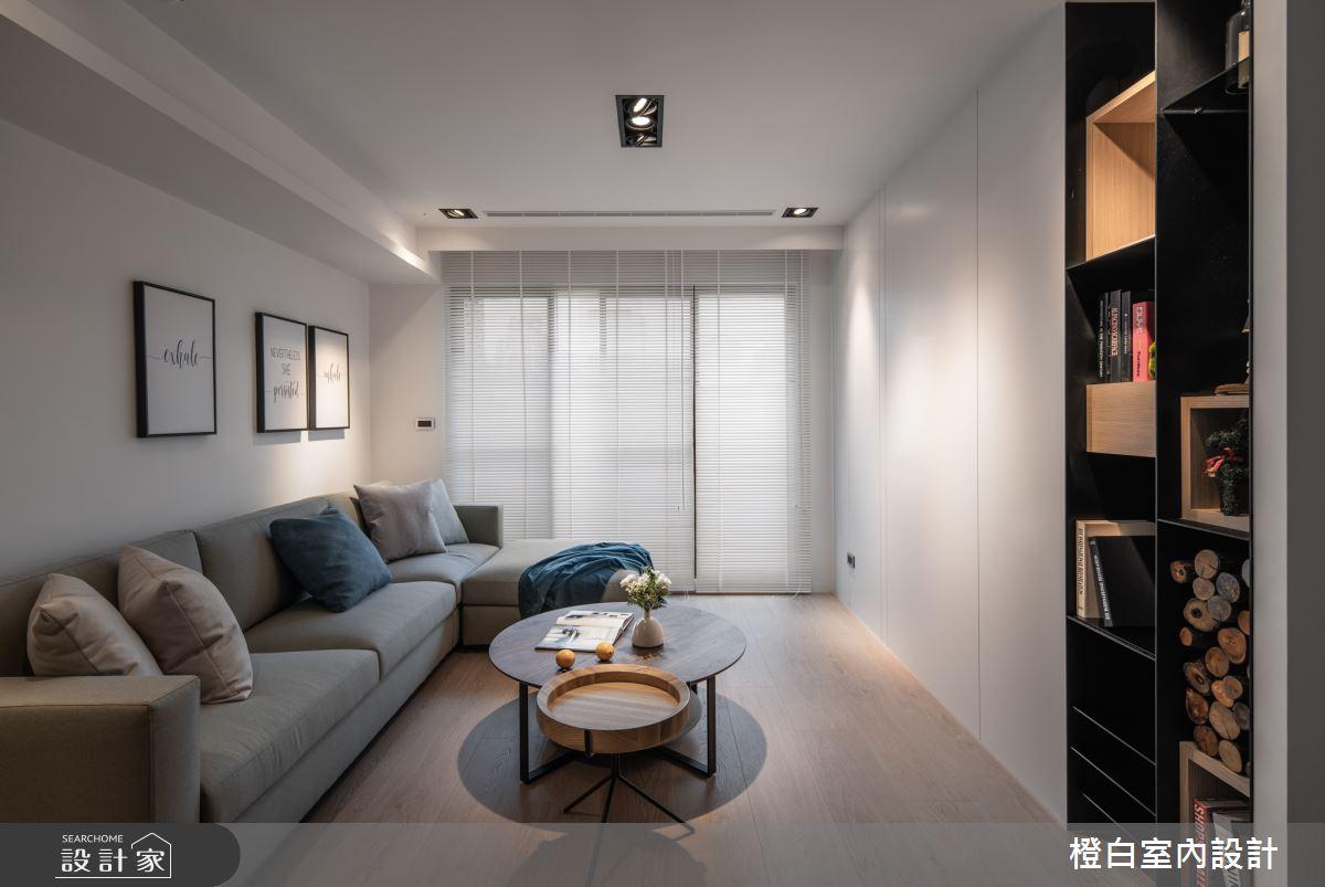 30坪新成屋(5年以下)_混搭風客廳案例圖片_橙白室內裝修設計工程有限公司_橙白_71之3