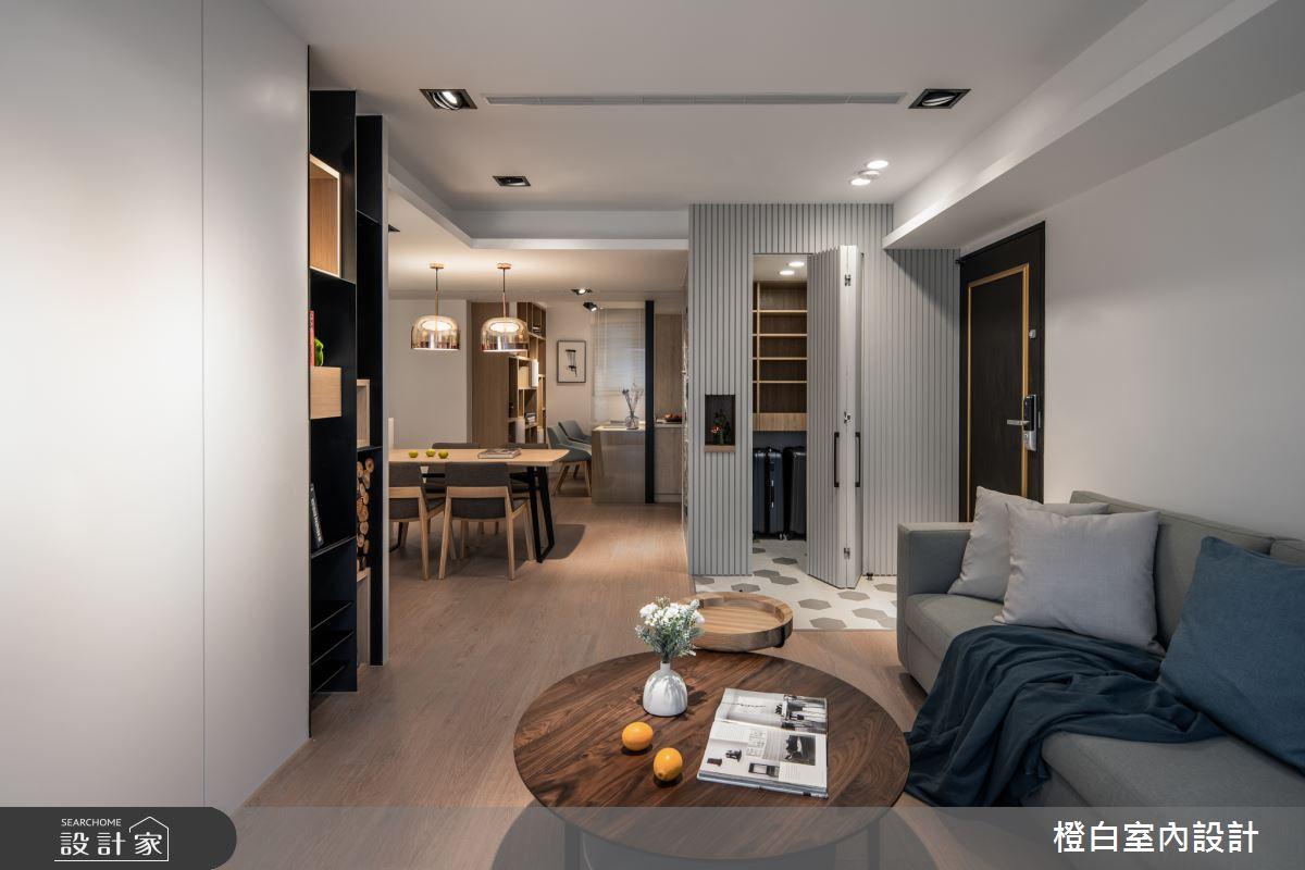 30坪新成屋(5年以下)_混搭風客廳案例圖片_橙白室內裝修設計工程有限公司_橙白_71之2