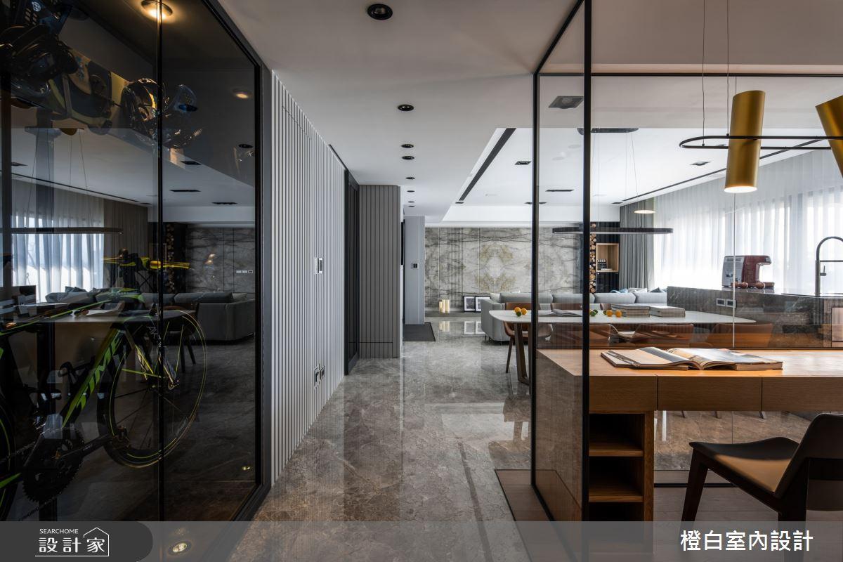 55坪新成屋(5年以下)_混搭風書房案例圖片_橙白室內裝修設計工程有限公司_橙白_74之4