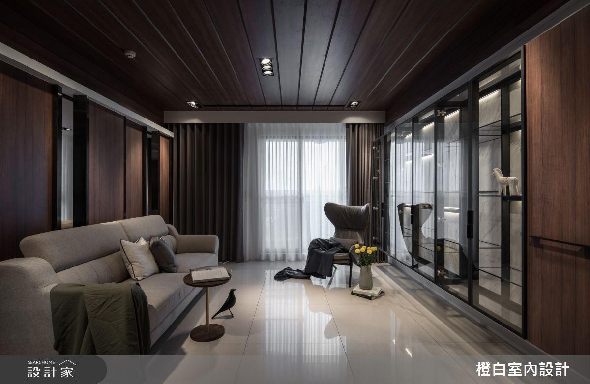 40坪新成屋(5年以下)_混搭風客廳案例圖片_橙白室內裝修設計工程有限公司_橙白_77之2