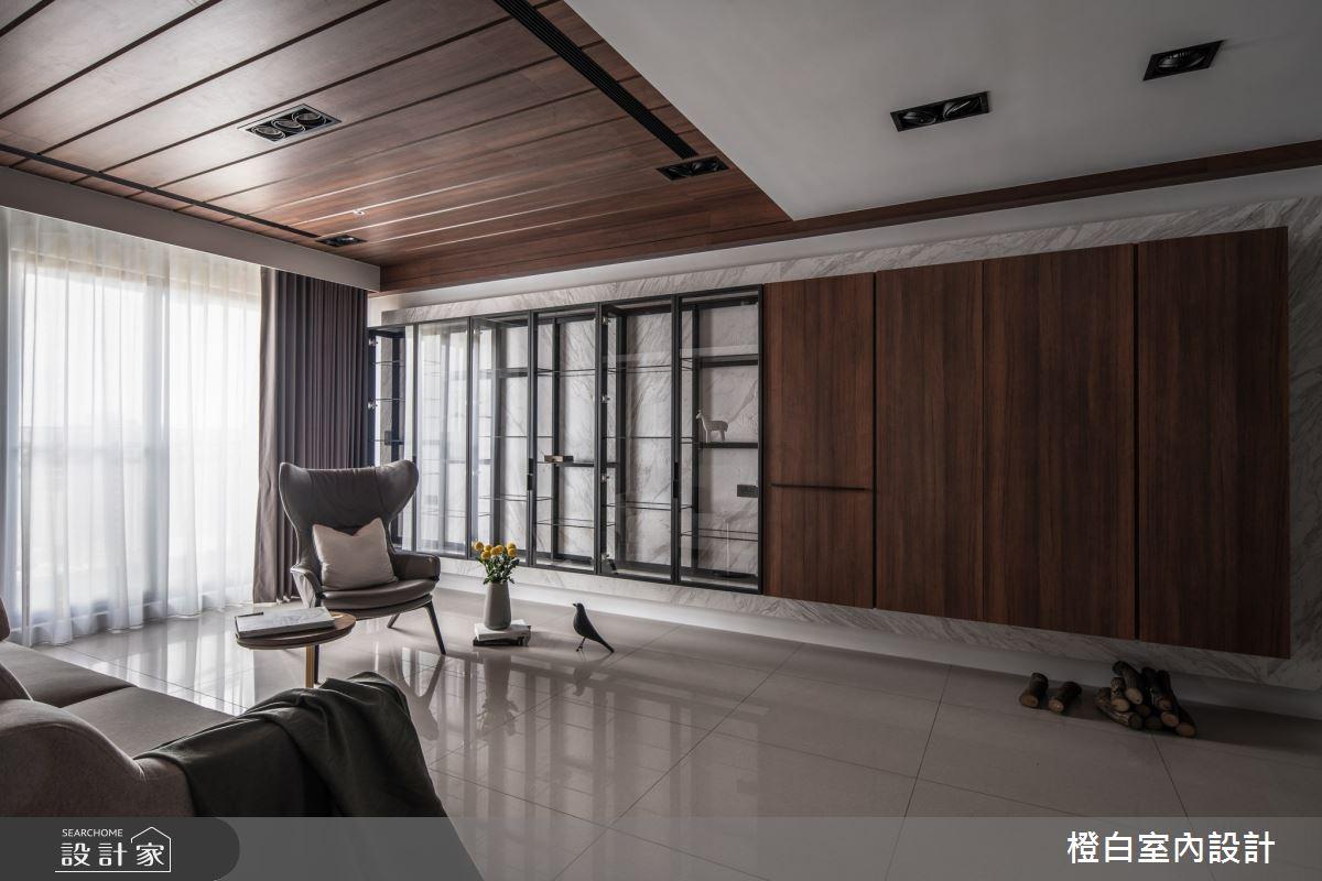 40坪新成屋(5年以下)_混搭風客廳案例圖片_橙白室內裝修設計工程有限公司_橙白_77之3