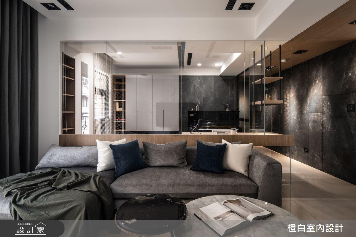 38坪新成屋(5年以下)_混搭風客廳案例圖片_橙白室內裝修設計工程有限公司_橙白_80之4