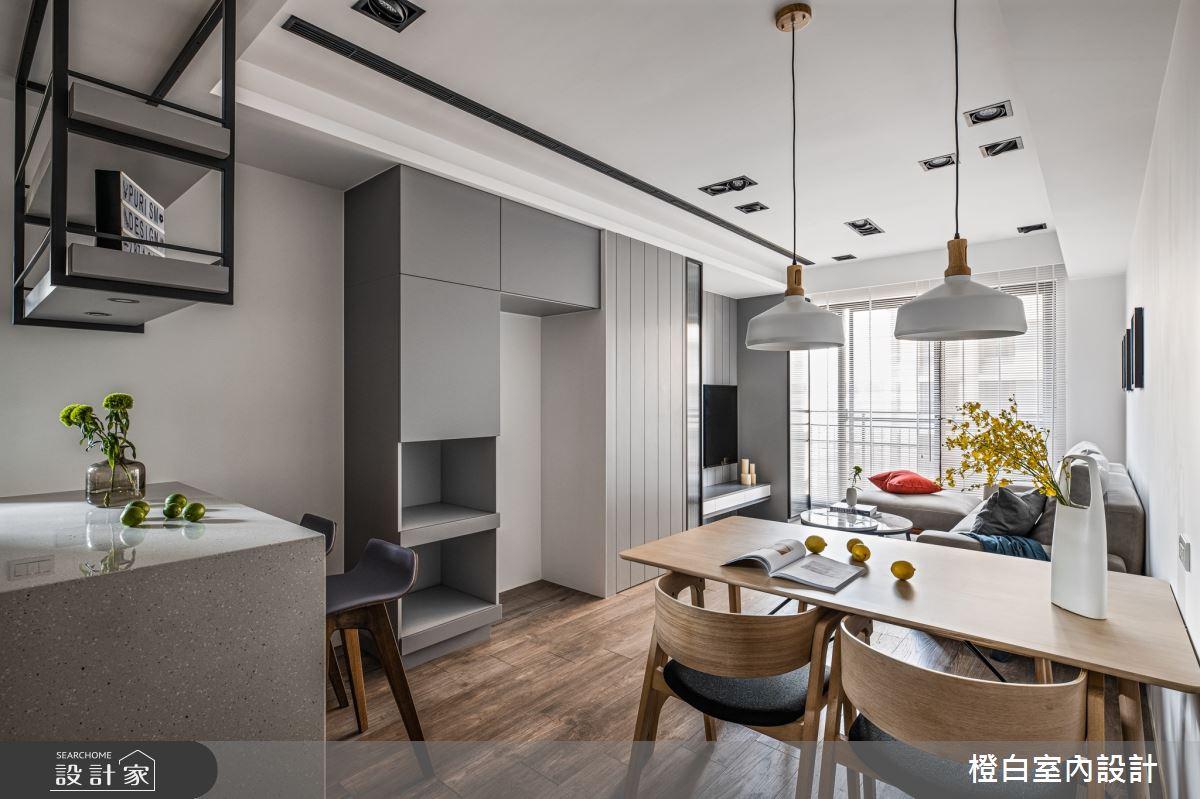 18坪新成屋(5年以下)_混搭風餐廳案例圖片_橙白室內裝修設計工程有限公司_橙白_81之3