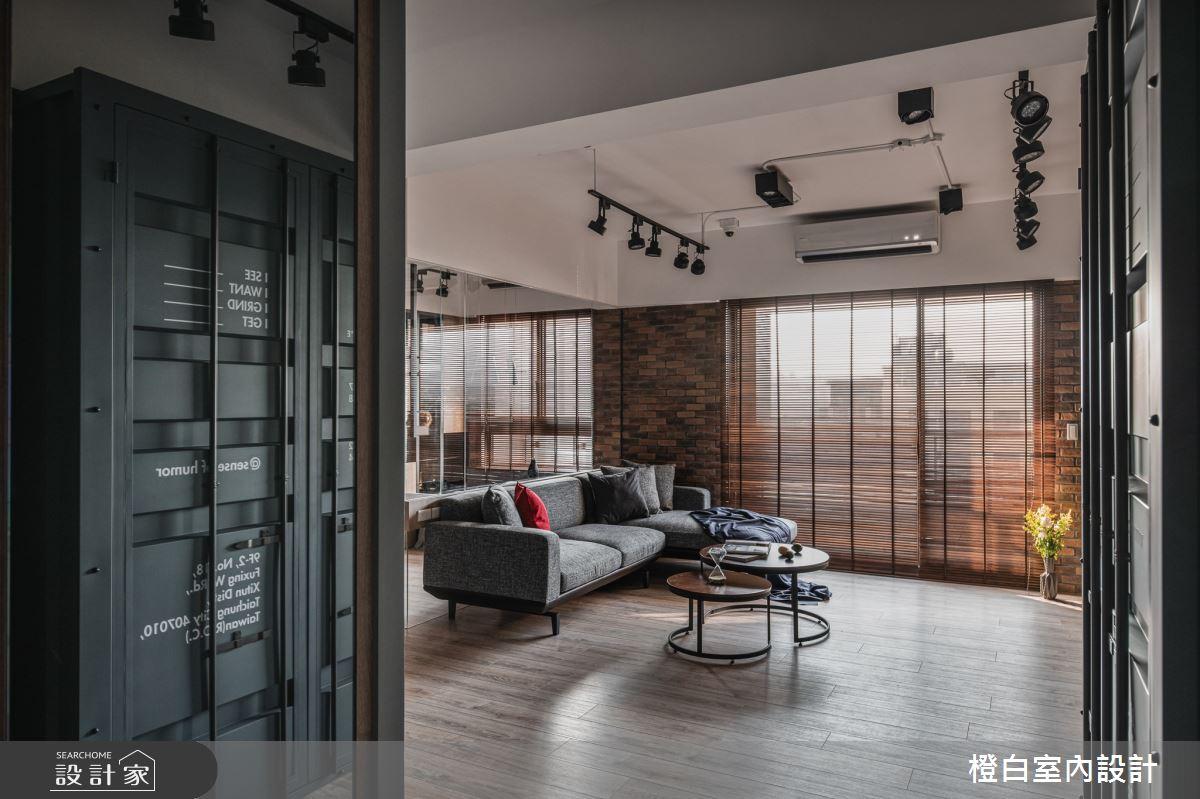 32坪新成屋(5年以下)_混搭風客廳案例圖片_橙白室內裝修設計工程有限公司_橙白_82之3