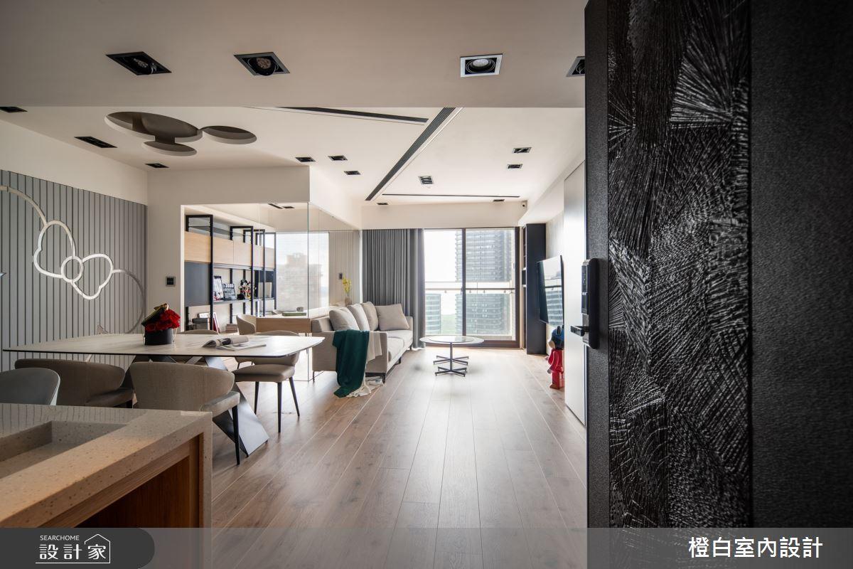34坪新成屋(5年以下)_混搭風案例圖片_橙白室內裝修設計工程有限公司_橙白_83之3