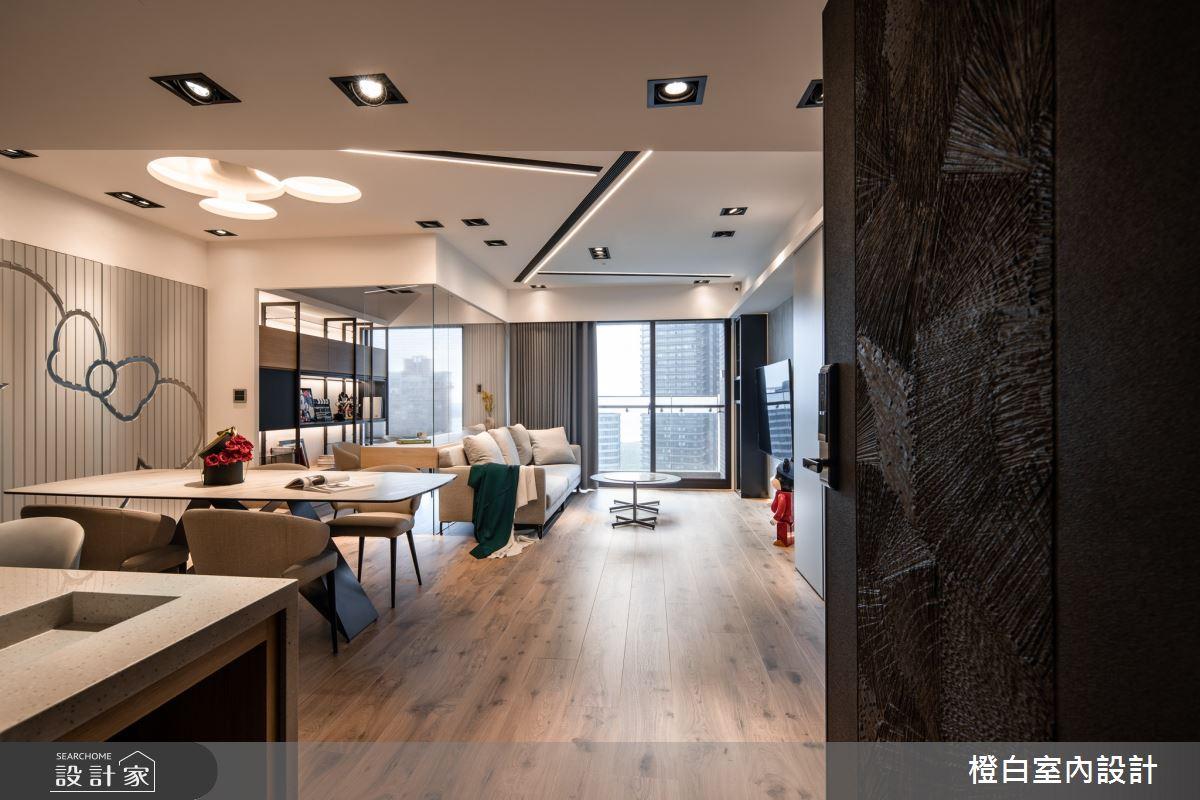 34坪新成屋(5年以下)_混搭風案例圖片_橙白室內裝修設計工程有限公司_橙白_83之4
