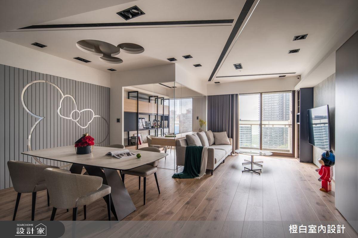 34坪新成屋(5年以下)_混搭風案例圖片_橙白室內裝修設計工程有限公司_橙白_83之5