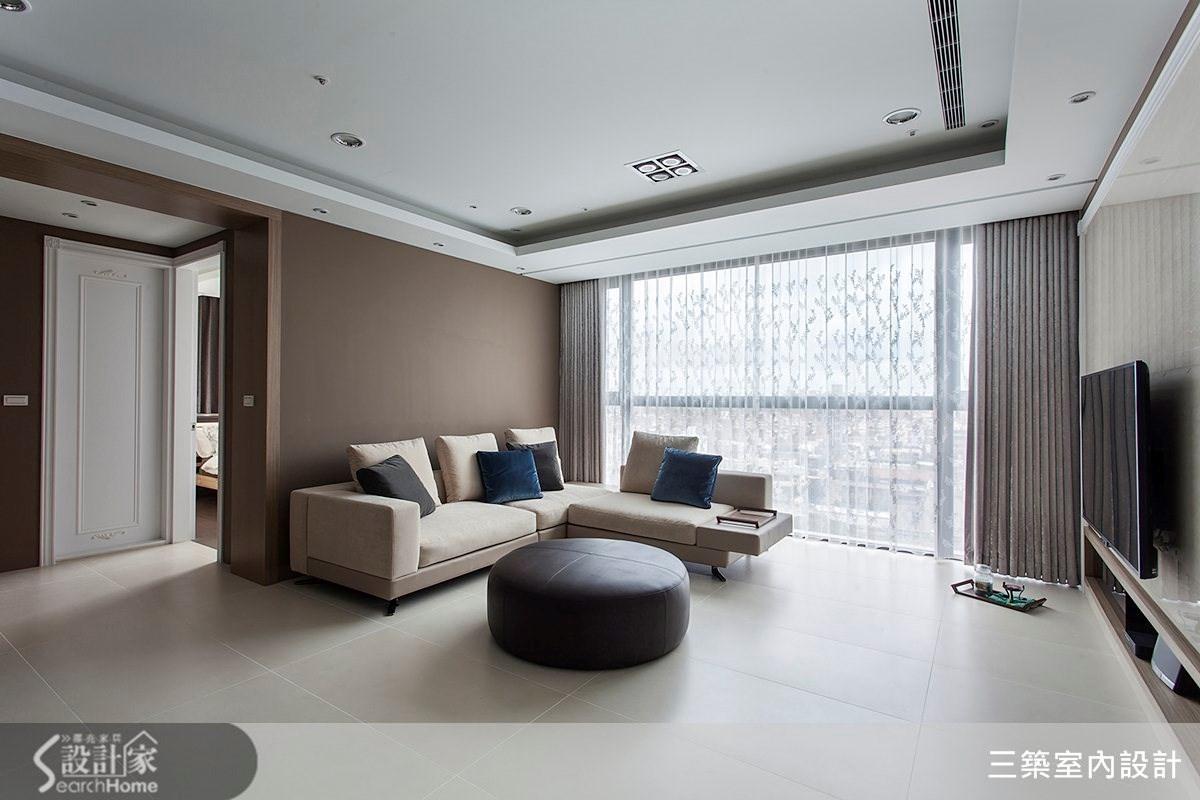 45坪新成屋(5年以下)_新古典案例圖片_三築室內設計_三築_07之1