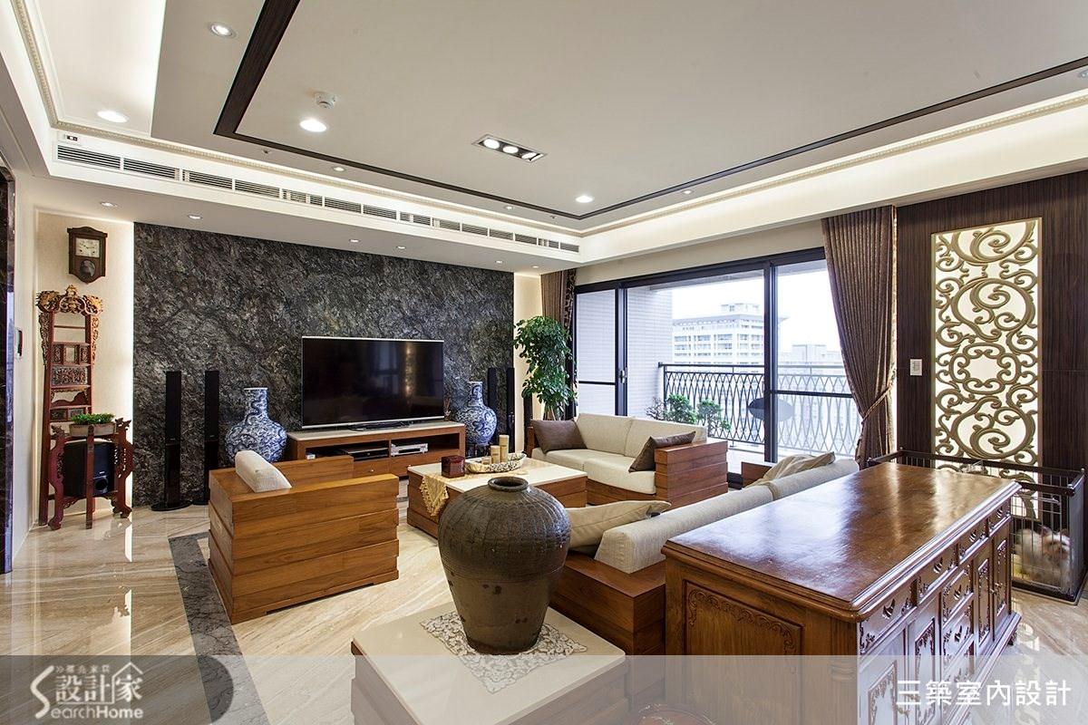 80坪新成屋(5年以下)_新中式風案例圖片_三築室內設計_三築_08之1