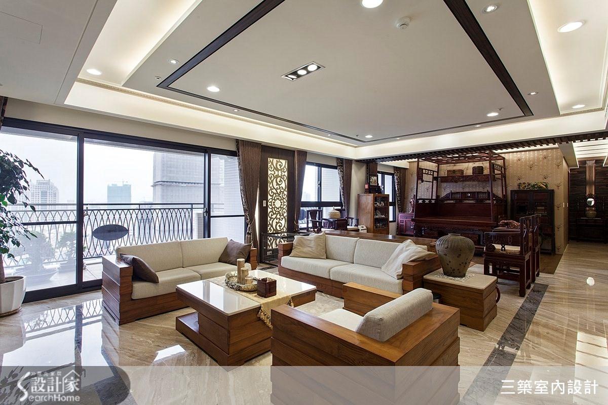 80坪新成屋(5年以下)_新中式風案例圖片_三築室內設計_三築_08之2