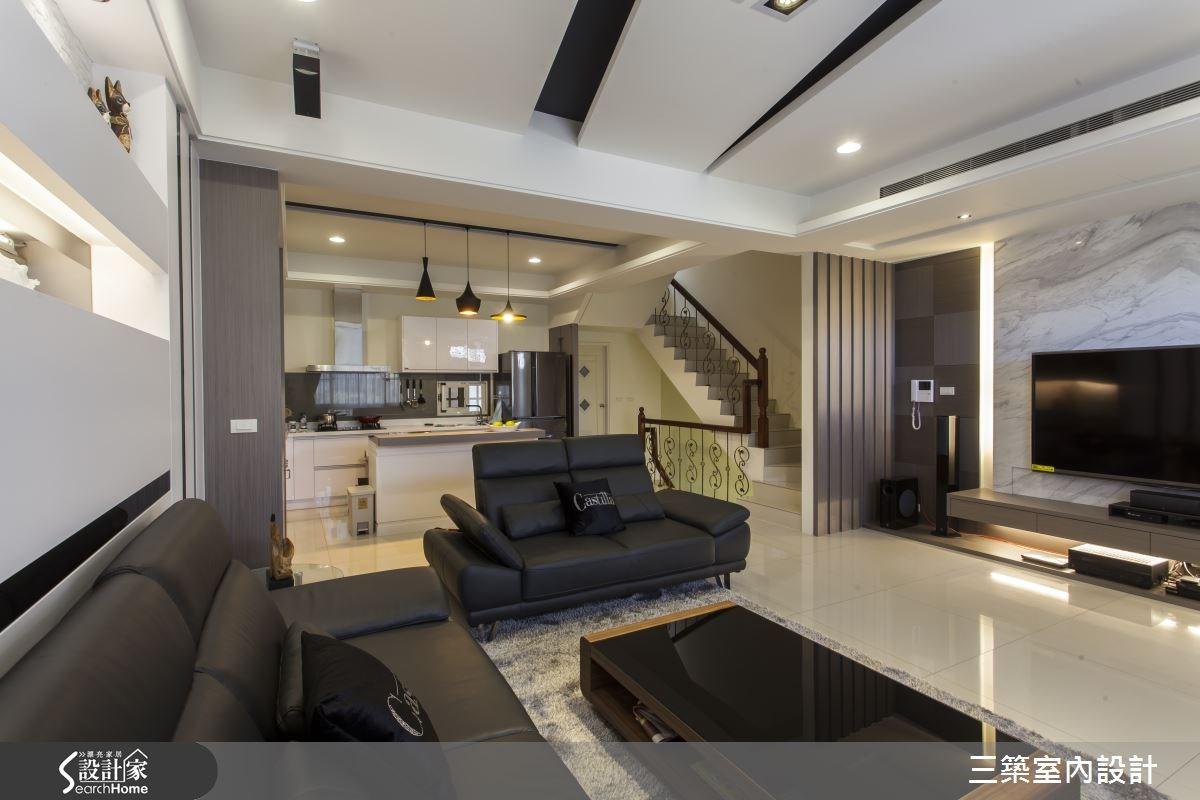 70坪新成屋(5年以下)_現代風案例圖片_三築室內設計_三築_13之1