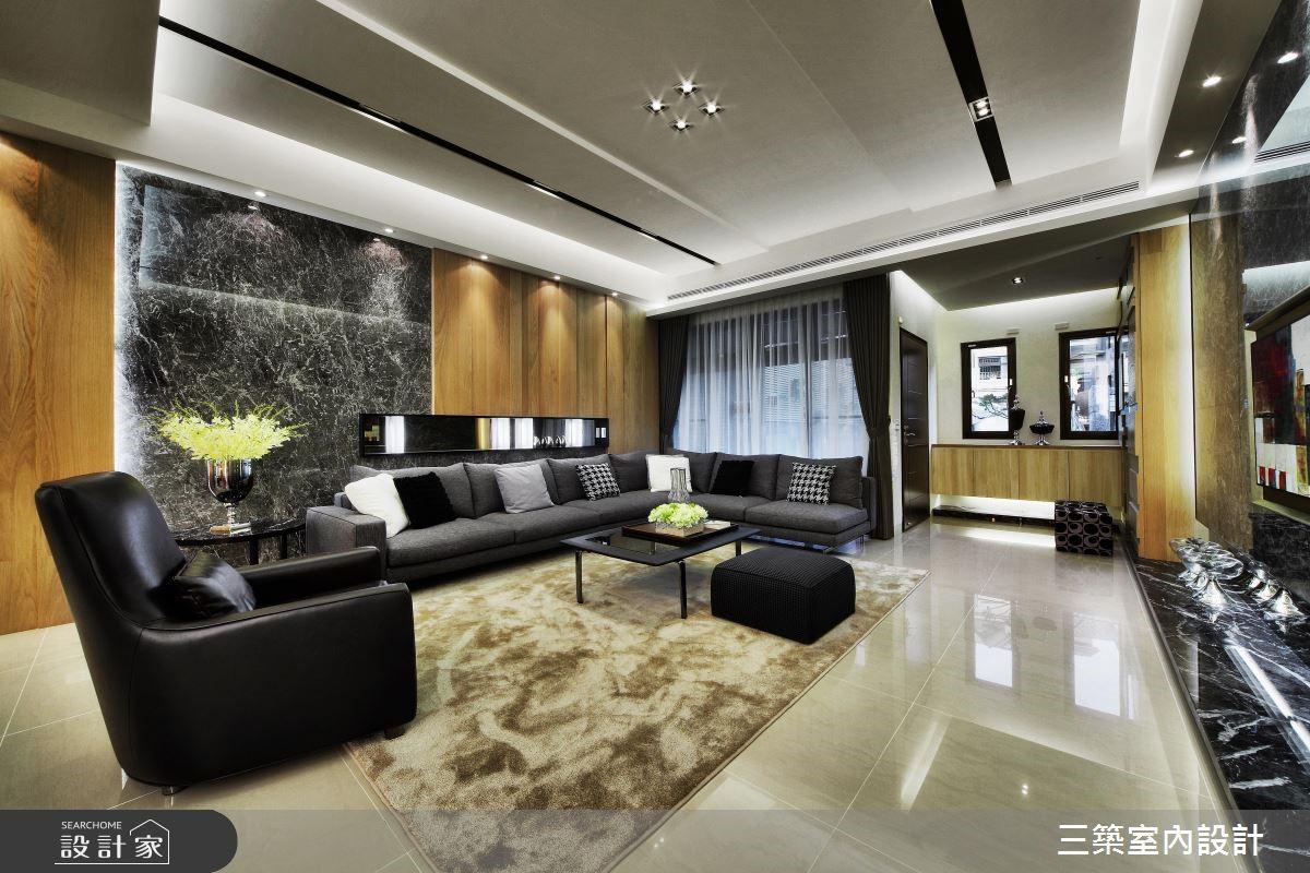 90坪新成屋(5年以下)_現代風客廳案例圖片_三築室內設計_三築_16之2