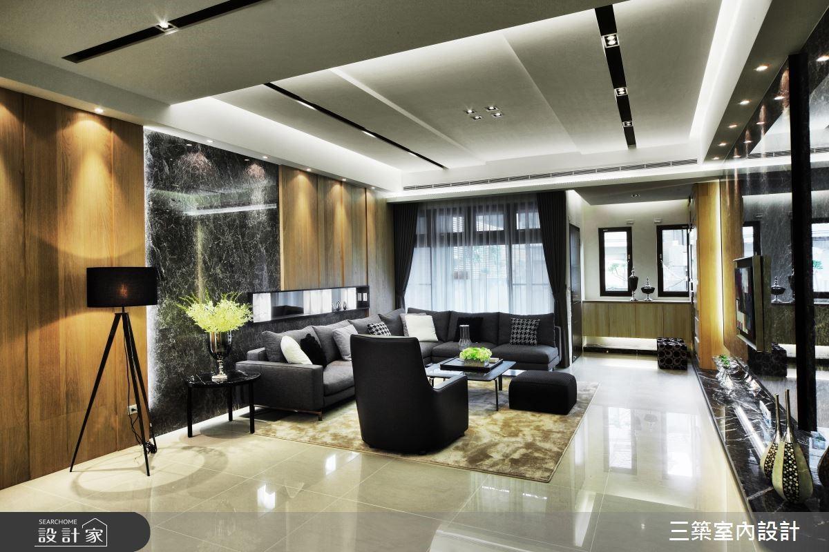 90坪新成屋(5年以下)_現代風客廳案例圖片_三築室內設計_三築_16之1
