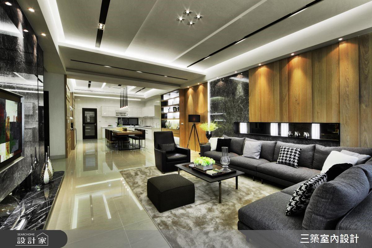 90坪新成屋(5年以下)_現代風客廳案例圖片_三築室內設計_三築_16之3