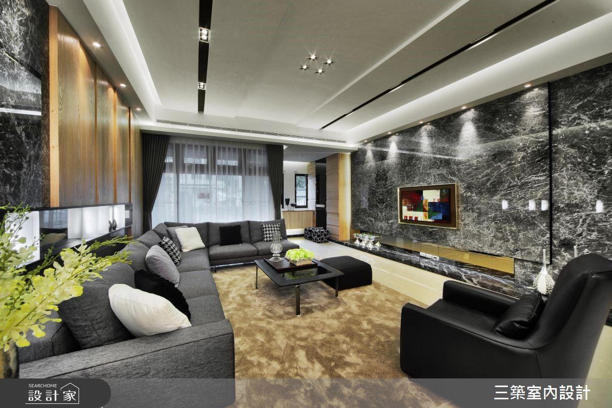 90坪新成屋(5年以下)_現代風客廳案例圖片_三築室內設計_三築_16之4