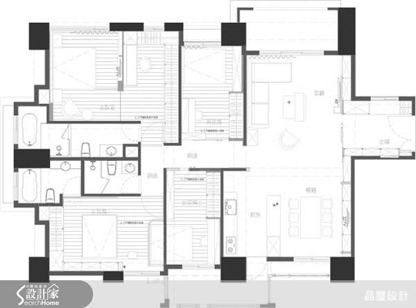 70坪新成屋(5年以下)_混搭風案例圖片_晶璽國際設計_晶璽_09之1