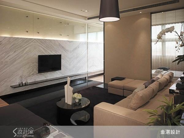 40坪新成屋(5年以下)_休閒風客廳案例圖片_金湛空間設計_金湛_01之2