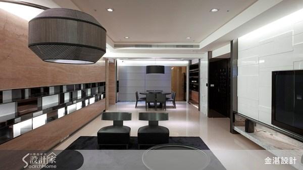 80坪預售屋_奢華風客廳案例圖片_金湛空間設計_金湛_04之1