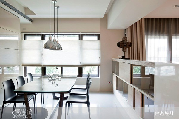 40坪新成屋(5年以下)_北歐風餐廳案例圖片_金湛空間設計_金湛_02之3
