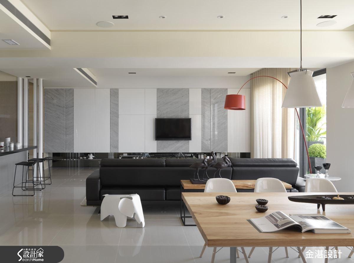40坪新成屋(5年以下)_現代風客廳案例圖片_金湛空間設計_金湛_08之1