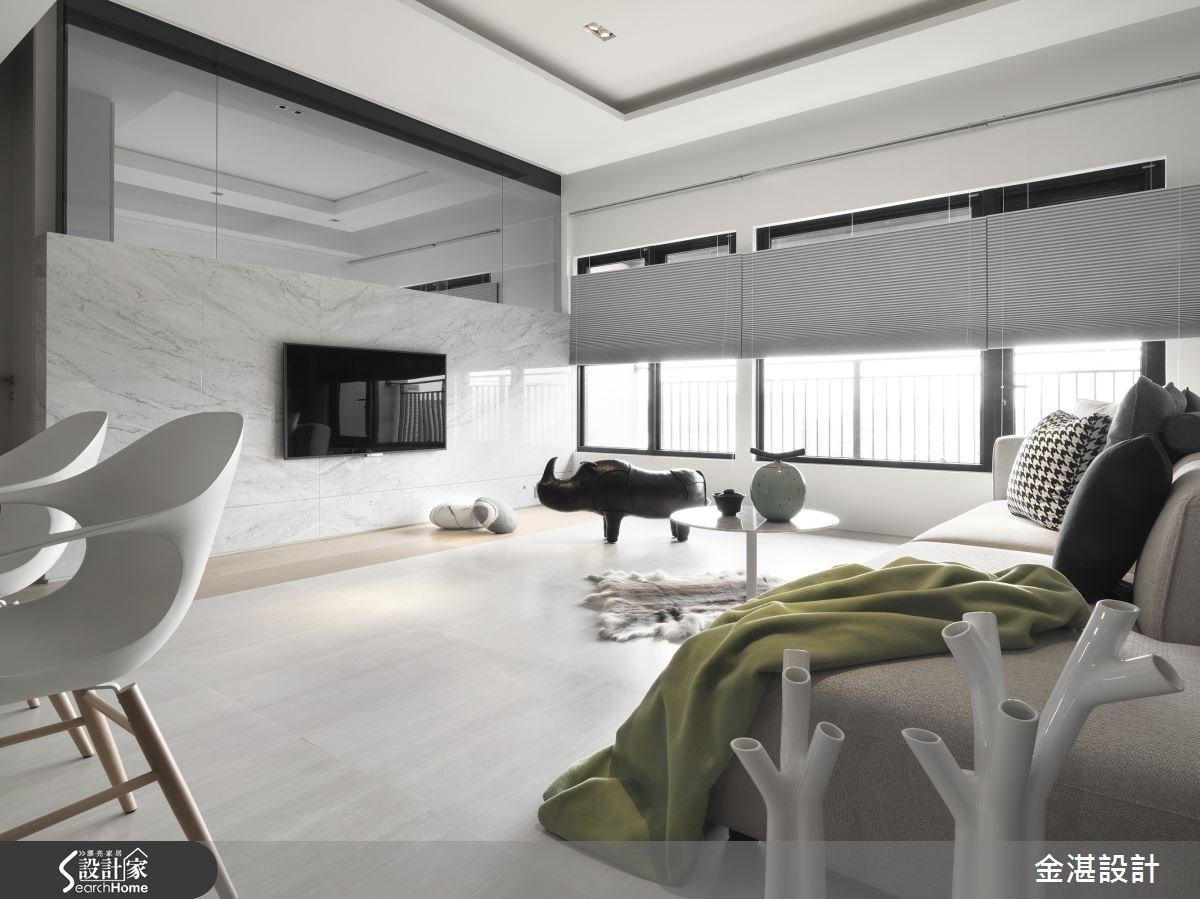 25坪新成屋(5年以下)_混搭風客廳案例圖片_金湛空間設計_金湛_10之3