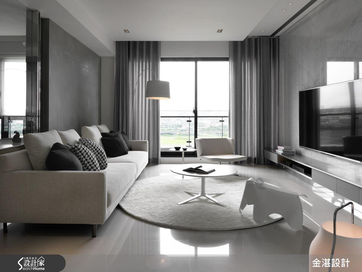 40坪新成屋(5年以下)_現代風客廳案例圖片_金湛空間設計_金湛_12之2