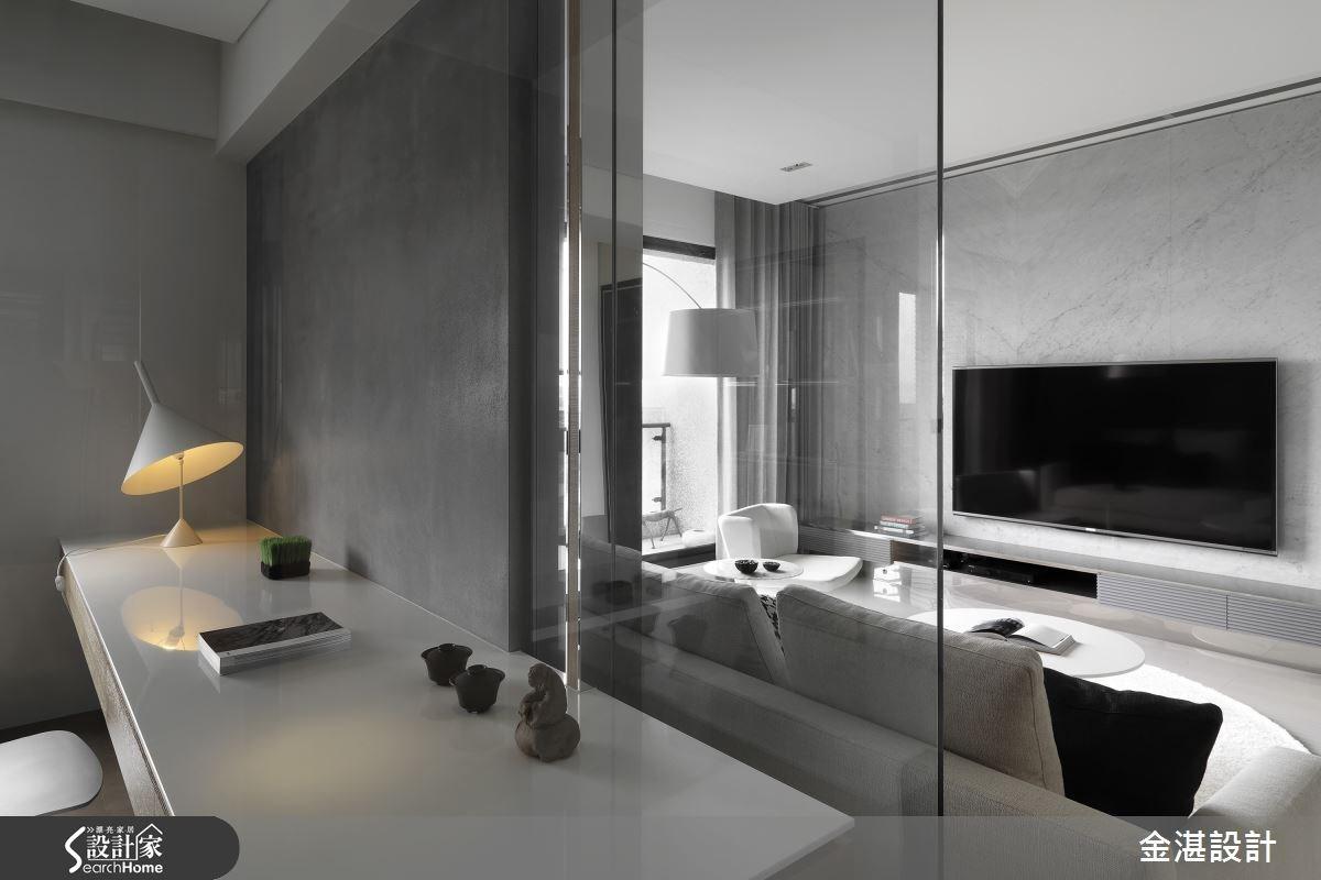 40坪新成屋(5年以下)_現代風客廳案例圖片_金湛空間設計_金湛_12之4