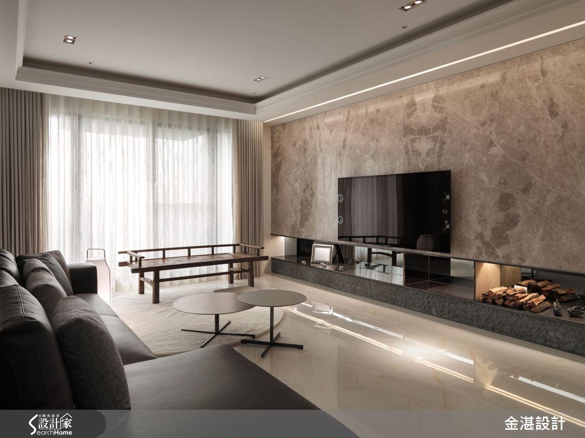 45坪新成屋(5年以下)_混搭風客廳案例圖片_金湛空間設計_金湛_15之2