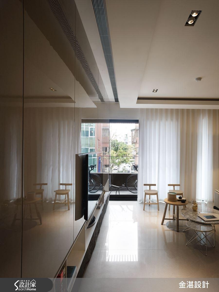 35坪新成屋(5年以下)_混搭風客廳案例圖片_金湛空間設計_金湛_20之1