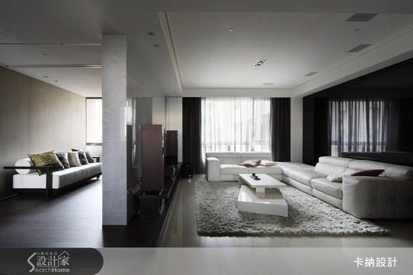 40坪新成屋(5年以下)_現代風客廳案例圖片_卡納文創/品納設計_卡納_01之5