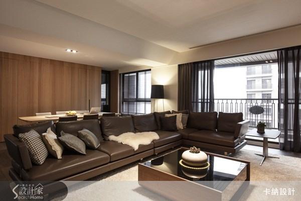 40坪新成屋(5年以下)_奢華風客廳案例圖片_卡納文創/品納設計_卡納_09之2