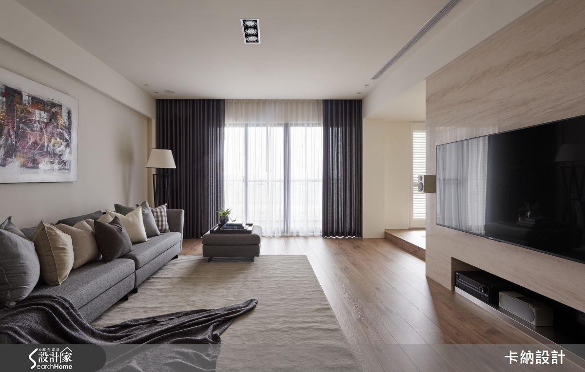 40坪預售屋_奢華風客廳案例圖片_卡納文創/品納設計_卡納_18之3
