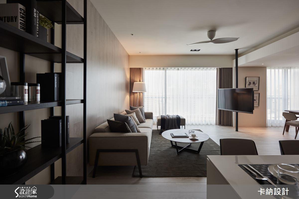 40坪新成屋(5年以下)_現代風客廳案例圖片_卡納文創/品納設計_卡納_21之5