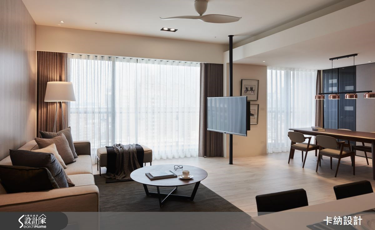 40坪新成屋(5年以下)_現代風客廳案例圖片_卡納文創/品納設計_卡納_21之9