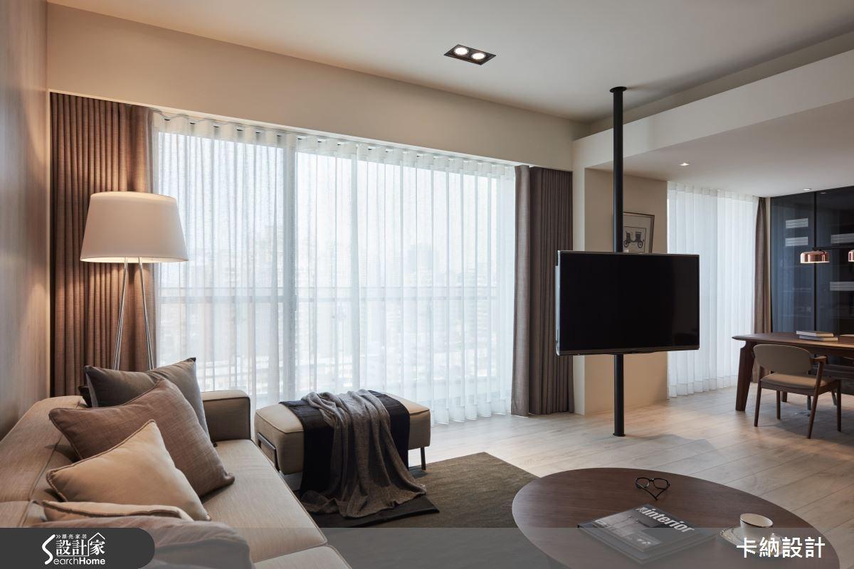 40坪新成屋(5年以下)_現代風客廳案例圖片_卡納文創/品納設計_卡納_21之11