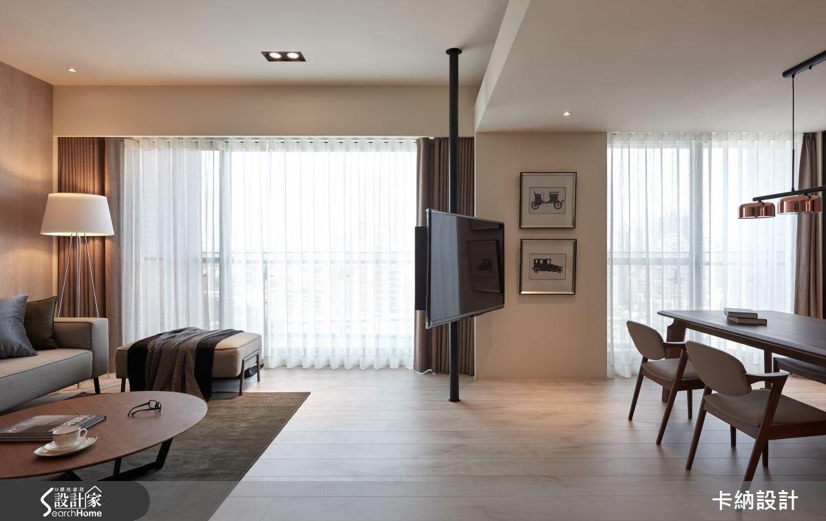 40坪新成屋(5年以下)_現代風客廳案例圖片_卡納文創/品納設計_卡納_21之12