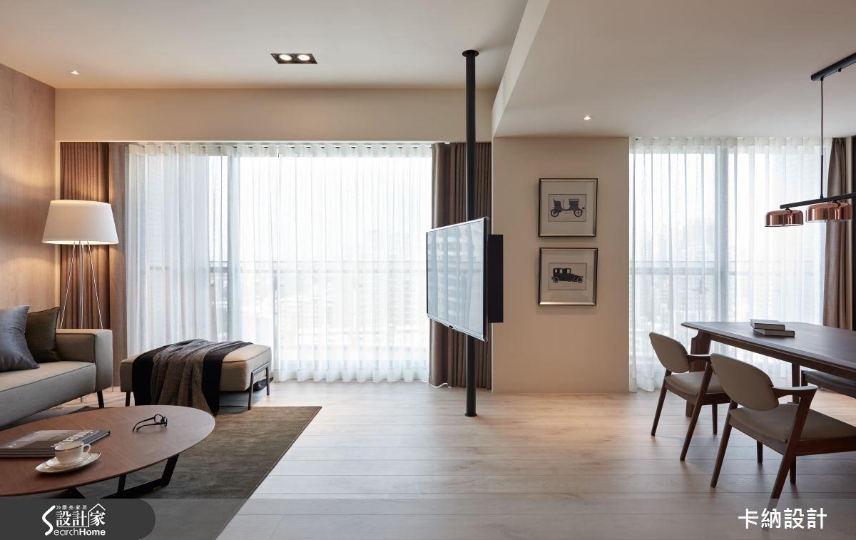 40坪新成屋(5年以下)_現代風客廳案例圖片_卡納文創/品納設計_卡納_21之13