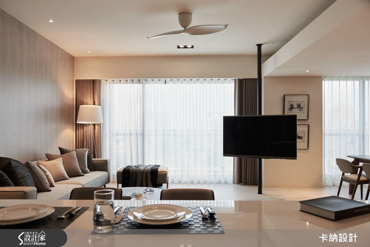 40坪新成屋(5年以下)_現代風客廳案例圖片_卡納文創/品納設計_卡納_21之14