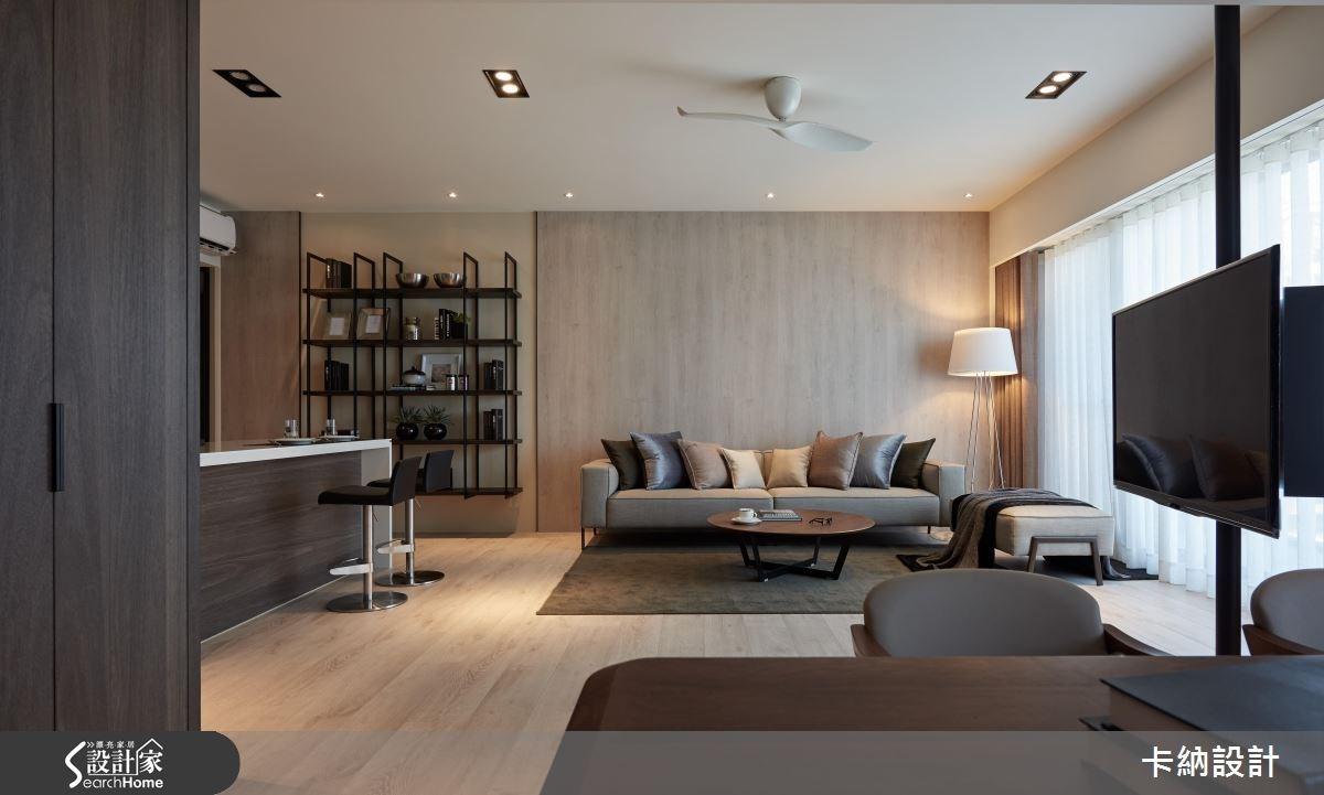 40坪新成屋(5年以下)_現代風客廳案例圖片_卡納文創/品納設計_卡納_21之22