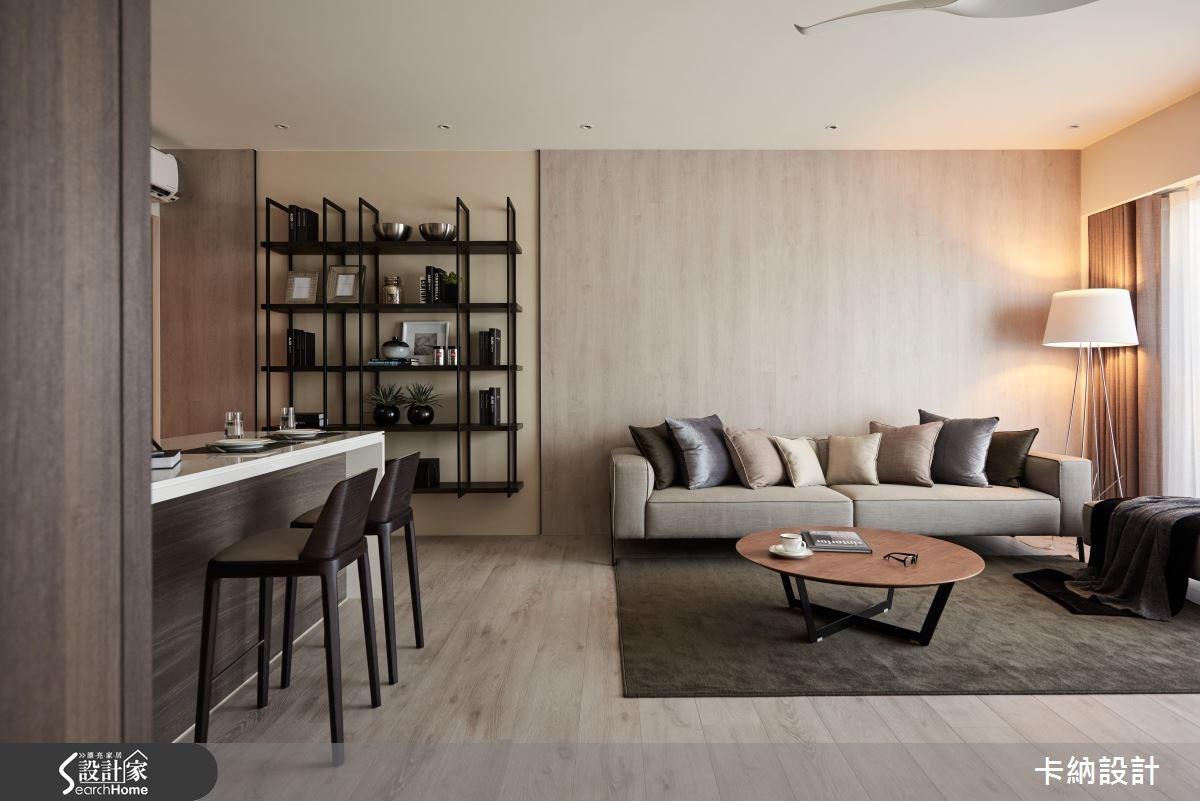 40坪新成屋(5年以下)_現代風客廳案例圖片_卡納文創/品納設計_卡納_21之23