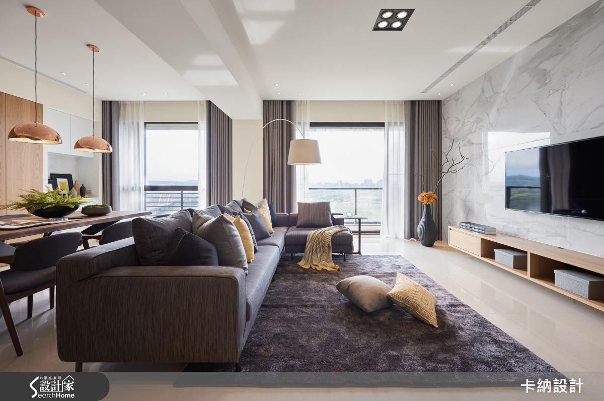 40坪新成屋(5年以下)_現代風客廳案例圖片_卡納文創/品納設計_卡納_22之3