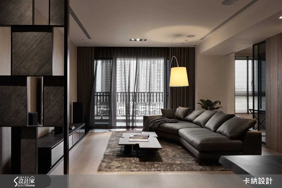 40坪新成屋(5年以下)_現代風客廳案例圖片_卡納文創/品納設計_卡納_24之1