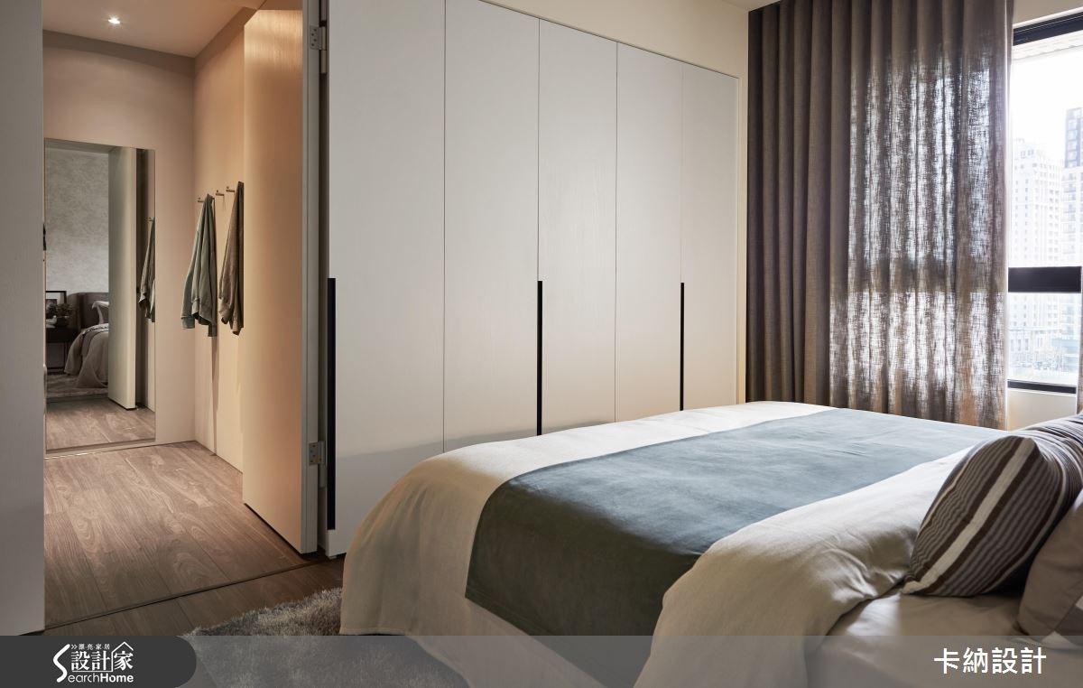 40坪新成屋(5年以下)_現代風臥室更衣間案例圖片_卡納文創/品納設計_卡納_24之22