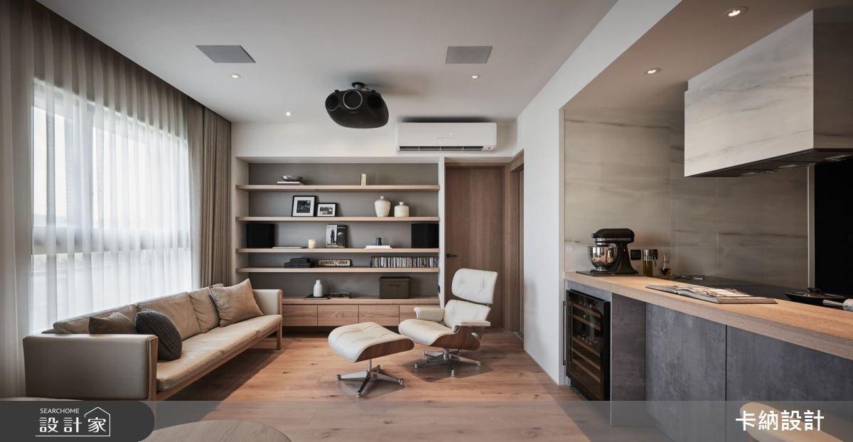 20坪新成屋(5年以下)_現代風客廳案例圖片_卡納文創/品納設計_卡納_26之6