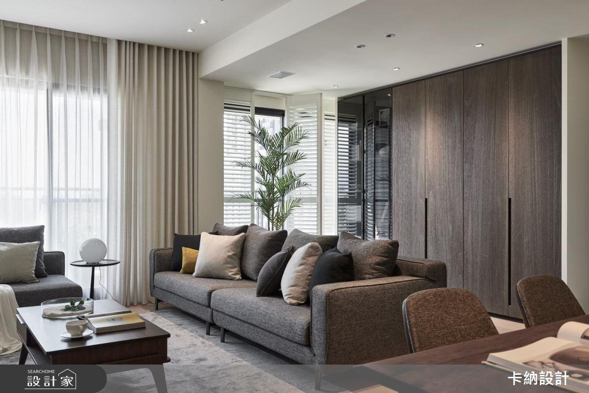 30坪新成屋(5年以下)_現代風客廳案例圖片_卡納文創/品納設計_卡納_28之2