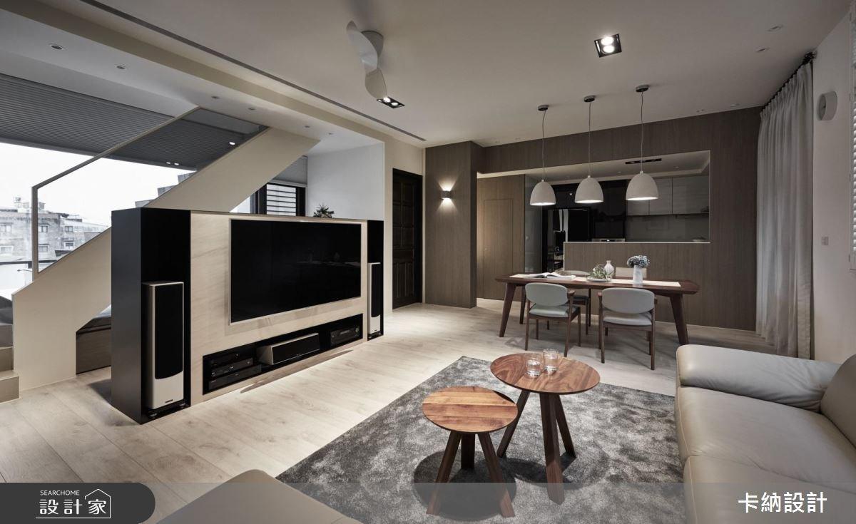 60坪新成屋(5年以下)_現代風客廳案例圖片_卡納文創/品納設計_卡納_29之3