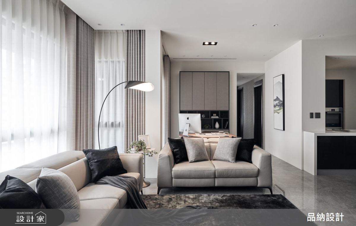 40坪新成屋(5年以下)_現代風客廳案例圖片_卡納文創/品納設計_品納_32之3