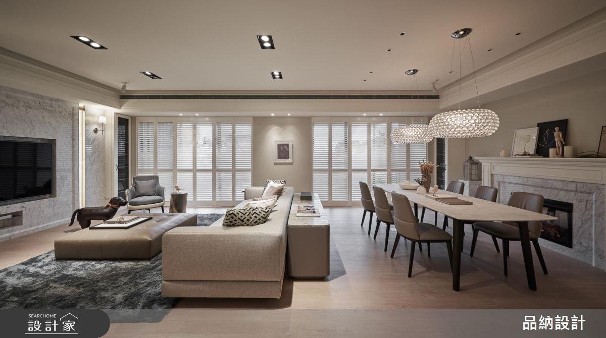 90坪新成屋(5年以下)_美式風客廳餐廳案例圖片_卡納文創/品納設計_品納_35之3