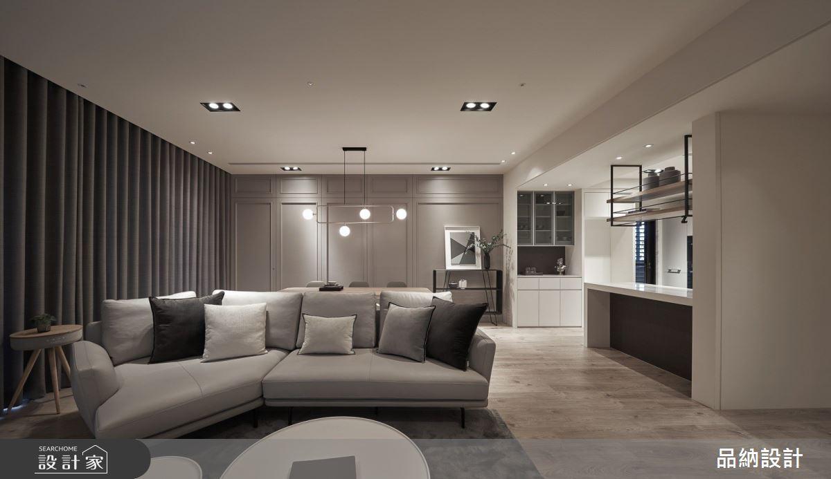 48坪新成屋(5年以下)_美式風客廳案例圖片_卡納文創/品納設計_品納_41之2