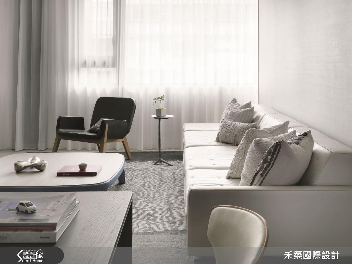 35坪預售屋_簡約風客廳案例圖片_禾築國際設計_禾築_32之3